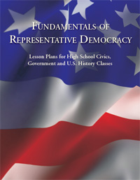 Cover page of Fundamentals of Democracy booklet