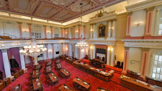 legislative chamber in California