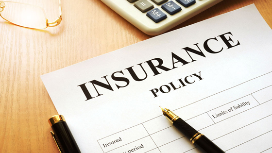 Insurance policy and pen