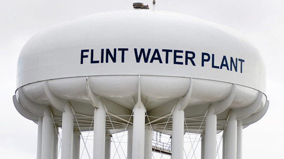 flint michigan led pipes water