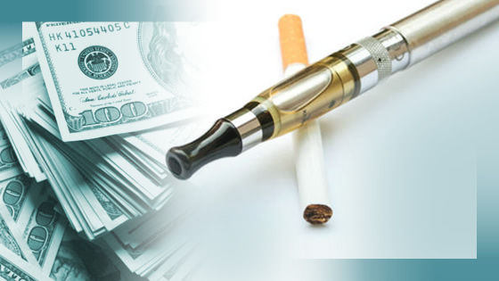 traditional and electronic cigarettes and money