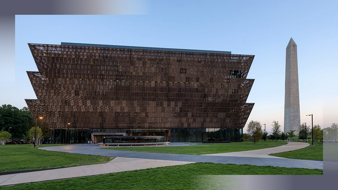 The Smithsonian National Museum of African American History and Culture in Washington.