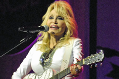 Dolly Parton performing at the 2019 NCSL Legislative Summit in Nashville, Tennessee