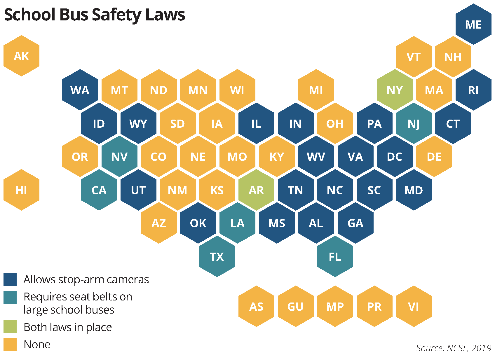 school bus safety laws map