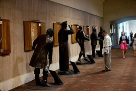 Texas historical figures in convention center