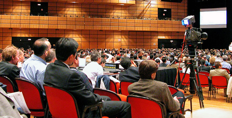 Attendees at a meeting