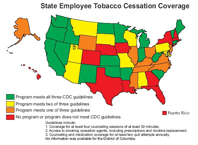 State Employee Tobacco Cessation programs
