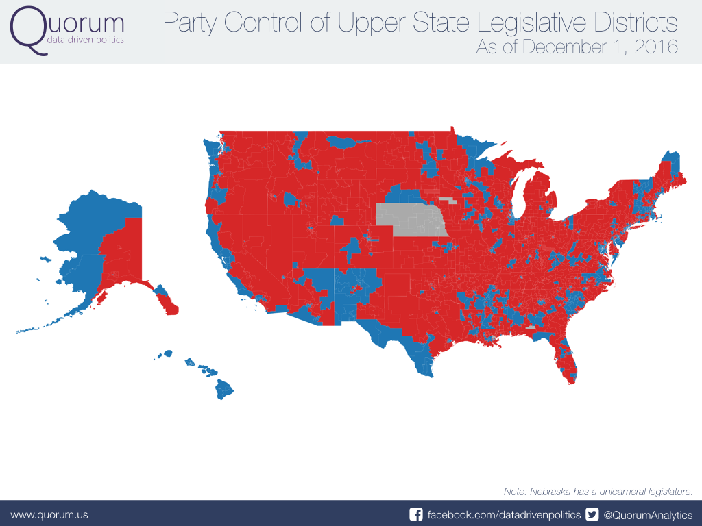 2016 DistrictbyDistrict State Legislative Control - Us State Legislature Map